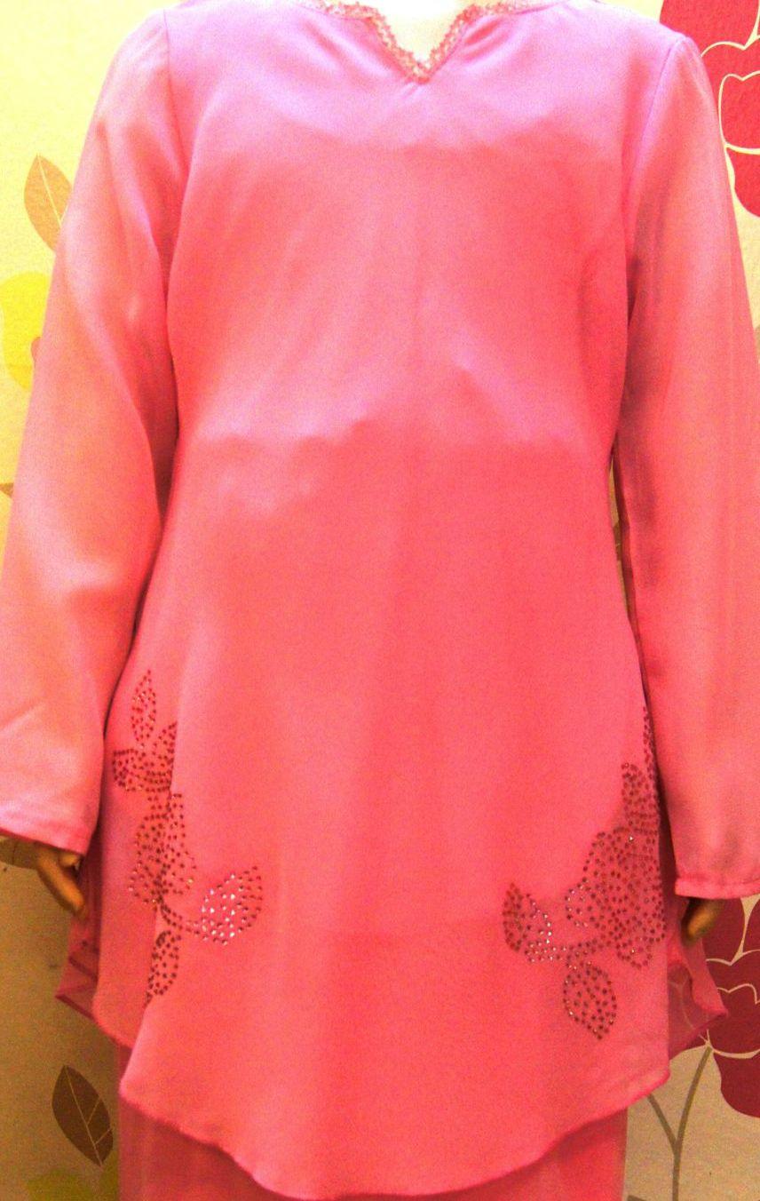 kurung peplum chiffon kanak kanak pink kcp 1303 24 jun